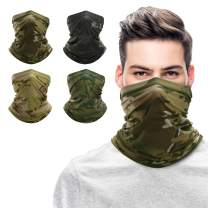 Bandana Face Mask Mouth Mask Bandanas for Men Face Scarf Neck Gaiters for Men Motorcycle Mask Black