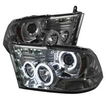 Spyder Auto PRO-YD-DR09-CCFL-SM Dodge RAM 1500 Smoke CCFL LED Projector Headlight with Replaceable LEDs