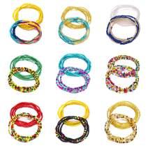 WFYOU Waist Beads for Women Colorful African Waist Beads Body Belly Waist Chain Summer Bikini Jewelry for Woman Girl,18PCS