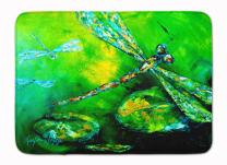 Caroline's Treasures MW1114RUG Dragonfly Summer Flies Machine Washable Memory Foam Mat, 19 X 27, Multicolor