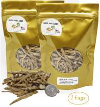 DABC OAK LAND 4OZ*2=227g/2 Bags American Ginseng Root Fiber,American Wisconsin Farmed Ginseng Root | 美国威斯康辛州西洋参须 花旗参须 促销装 | Hand-Selected Cultivated Ginseng for Tea or Soup or Powder 0158# Bag