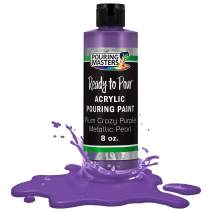 Pouring Masters Plum Crazy Purple Metallic Pearl Acrylic Ready to Pour Pouring Paint – Premium 8-Ounce Pre-Mixed Water-Based - for Canvas, Wood, Paper, Crafts, Tile, Rocks and More