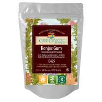 Premium Konjac Gum Glucomannan Powder | Thickening Agent - (K) Kosher( 14 Oz)