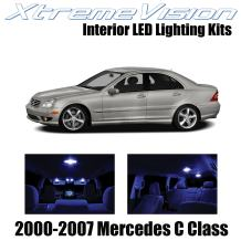 Xtremevision Interior LED for Mercedes C Class 2000-2007 (14 Pieces) Blue Interior LED Kit + Installation Tool
