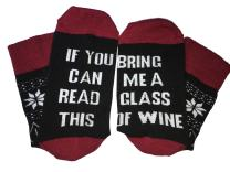 EASYHON IF YOU CAN READ THIS Socks Christmas Gift Funny Crew Novelty Sock