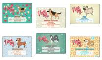 Creanoso I Love My Dog Postcards (12-Pack) – Assorted Card Stock Bulk Set – Premium Quality Cards Stock – Stocking Stuffers Gift for Pet Owners, Dog Lovers, Men & Women, Teens