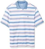 IZOD Men's Big and Tall Advantage Feeder Stripe Short-Sleeve Polo