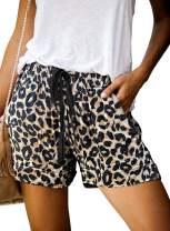 Elapsy Womens Casual Drawstring Elastic Waist Summer Shorts with Pockets S-2XL