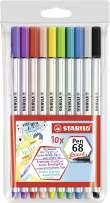 STABILO Pen 68 Brush Marker Set, 10-Colors