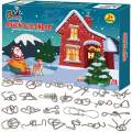 FLY2SKY Advent Calendar 2019 Christmas Countdown Calendar Decoration 24pcs Metal Wire Puzzle Toys Gift Box Set Brain Teaser Toy for Count Down Xmas Holiday Décor Party Favor for Kids Adults Challenge
