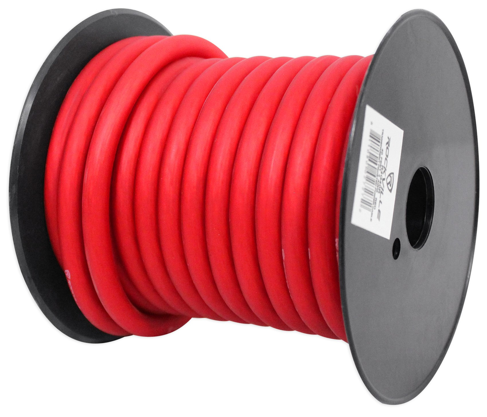 Rockville R4G40R Red 4 AWG Gauge 40 Foot Car Amp Power/Ground Wire Spool