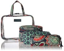 Vera Bradley Women's 4 pc. Organizer Cosmetic Makeup Bag