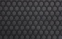 Intro-Tech Hexomat Front Row Custom Floor Mats for Select Chevrolet Trail Blazer Models - Rubber-like Compound (Black)