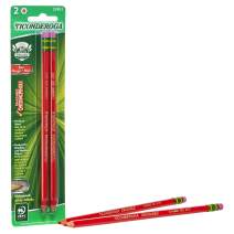TICONDEROGA Erasable Checking Pencils, Pre-Sharpened with Eraser, Red, Pack of 2 (13901)