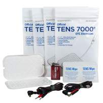 TENS 7000 Official Refill Kit - Includes 16 Premium TENS Unit Pads, 2 Lead Wires, 50 TENS Wipes, 9-Volt Replacement Battery, 1 Electrode Pad Holder