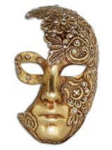 Venetian Full Face Mask Volto Luna Mac for Men and Women