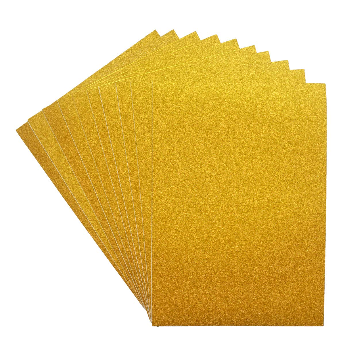 """Misscrafts Adhesive Sheets 10 Sheets Adhesive Glitter Paper 12"""" x 8"""" Sparkling Sticker for DIY Craft Sign Metallic Colors Gold"""