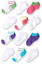 Stride Rite Girls' Little 12 Pack Fun Fashion No Show Socks Blend