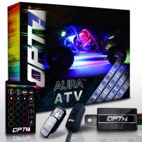 OPT7 10pc Aura ATV UTV Underbody Glow LED Lighting Kit with Wireless Remote Controller | Multi-Color Accent Glow Neon Strips Atmosphere Light w/Switch for SXS Side x Side Polaris RZR XP 1000