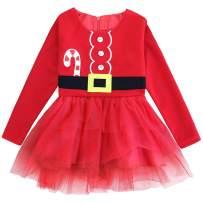 FANCYINN Girl Princess Dress Tutu Lace Long Sleeve Fleece Special Occasion 1-7
