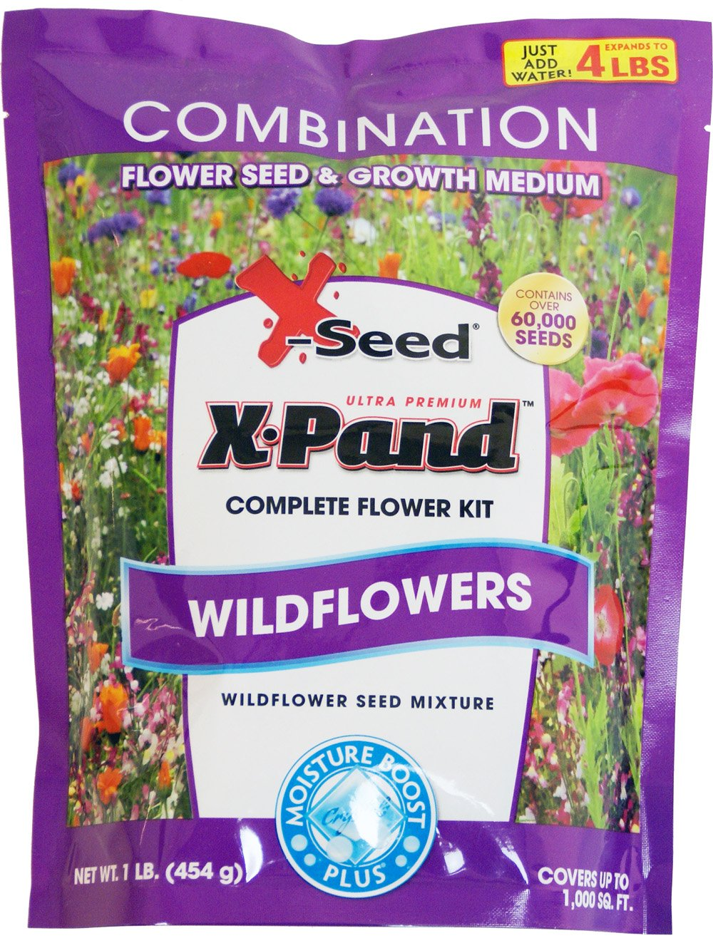 X-Seed X-Pand Ultra Wildflower Combination Seed Mix, 1-Pound