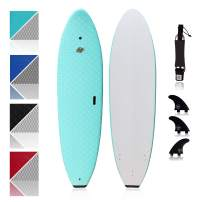 South Bay Board Co. - Premium Beginner Soft Top Surfboards - 7' Ruccus - The Best Foam Surf Boards for Beginners, Kids, and Adults - Wax Free Soft Top Surfboards for Fun & Easy Surfing