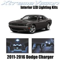 Xtremevision Interior LED for Dodge Challenger 2011-2016 (16 Pieces) Cool White Interior LED Kit + Installation Tool