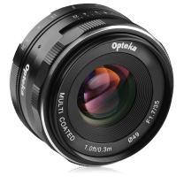 Opteka 35mm f/1.7 HD MC Manual Focus Prime Lens for Fuji X Mount APS-C Digital Cameras