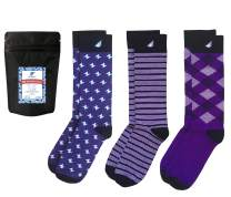 Boldfoot Socks - Premium Quality Colorful Women's Dress Socks - American Made - 3-pack, Purple