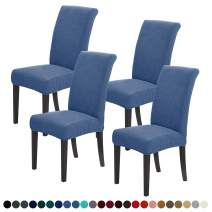 Joccun Chair Covers for Dining Room Set of 4,Water Repellent Dining Chair Slipcovers Stretch Dining Room Chair Covers Seat Protector,Washable Parsons Chair Cover for Home,Banquet(Riverside,4 Pack)