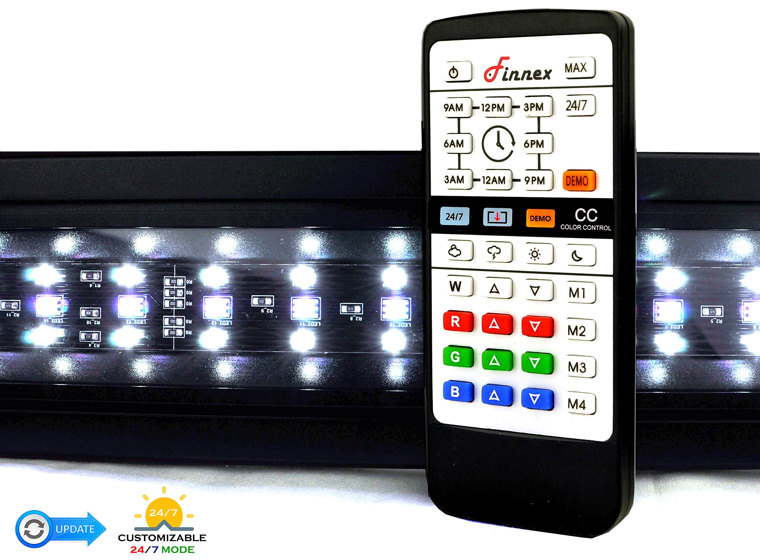 Finnex Planted+ 24/7 LED KLC Aquarium LED Light,  Automated Full Spectrum Fish Tank Light, 36 Inch