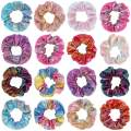 Canitor 16 Pack Shiny Metallic Scrunchies Bow Scrunchies Rainbow Scrunchies Bow Scrunchies for Hair Scrunchies with Bow Hair Scrunchies for Women