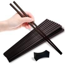 Colletrum 10 Pairs Fiberglass Chopsticks-Dishwasher Safe, Heat Resistant & Non-slip Japanese Chopsticks-Highly Durable & Reusable Chopsticks - Korean Chop Sticks Multipack -Used as Cooking Chopsticks