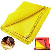 Mophorn 6 x 10 Ft Welding Blanket Gold Fiberglass Blanket Portable Fiberglass Fire Retardant Blanket Welding Mat Welding Fireproof Thermal Resistant Insulation With Carry Bag