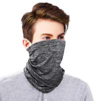Face Scarf Cover Mouth Mask Ear Loops Neck Gaiter UPF50 UV Dust Protect