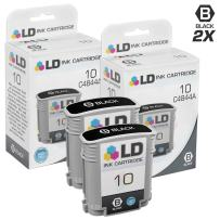 LD Remanufactured Ink Cartridge Replacement for HP 10 C4844A High Yield (Black, 2-Pack)