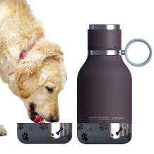 asobu Dog Bowl Attached to Stainless Steel Insulated Bottle 1 Liter