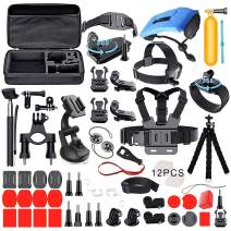 Deyard Accessories Kit Set for GoPro Hero 8 Hero 7 Hero HD(2018) Hero 6 Hero 5 Session Hero 5 Black Hero 4 Silver Black Fit DJI Osmo Xiaomi AKASO Crosstour Apeman Action Camera