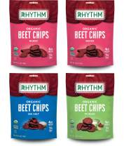 Rhythm Superfoods Beet Chips, Variety Pack, Naked/Sea Salt/Pickled, Non-GMO, 1.4 Oz (Pack of 4), Vegan/Gluten-Free Superfood Snacks
