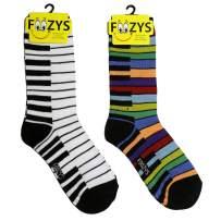 Foozys Women's Crew Socks | Fun Novelty Socks | 2 Pair