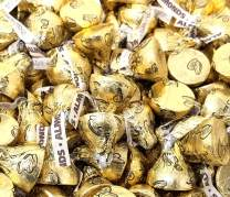 CrazyOutlet Hershey's Kisses Almond Gold Foils Milk Chocolate Candy Bulk Pack, 1 Lb Bag