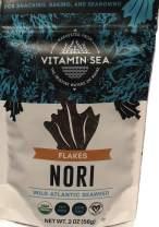 VITAMINSEA Organic Laver Wild Atlantic Nori Flakes Seaweed - 2 oz / 56 G Maine Coast Sea Vegetables - USDA - Vegan - Kosher Certified - Perfect for Keto or Paleo Diets (NW2)