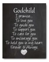 """Ocean Drop Designs - Godchild Chalkboard Style Print - Perfect for Christening, Baptism, Baby Showers - PRINT ONLY - 8""""x10"""""""