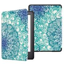 Fintie Slimshell Case for All-New Kindle (10th Generation, 2019 Release) - Lightweight Premium PU Leather Cover with Auto Sleep/Wake (NOT Fit Kindle Paperwhite or Kindle 8th Gen), Emerald Illusions