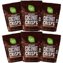 Go Raw Organic Coconut Crisps, Choco Crunch, Superfood, Paleo, Gluten Free, Vegan, 2 oz, Pack of 6