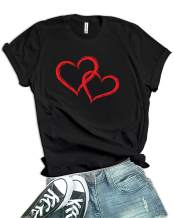 Love Heart Tshirts for Womens Graphic Girlfriend Gifts
