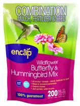 Wildflower Butterfly & Hummingbird Mix from Encap - 4-in-1 Mix with Annual and Perennial Seed, Open-Pollinated, Non-GMO, for Bees, Humming Birds, Butterflies, Pollinators