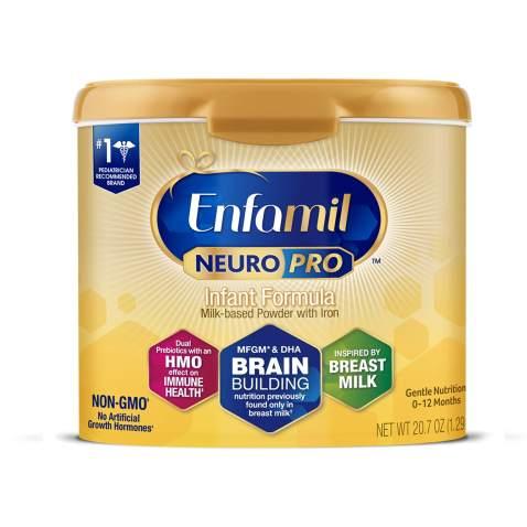 Enfamil NeuroPro Baby Formula Milk Powder Reusable Tub, 20.7 oz -Brain Building Nutrition Inspired by Breast Milk-Omega 3 DHA, Non-GMO,...