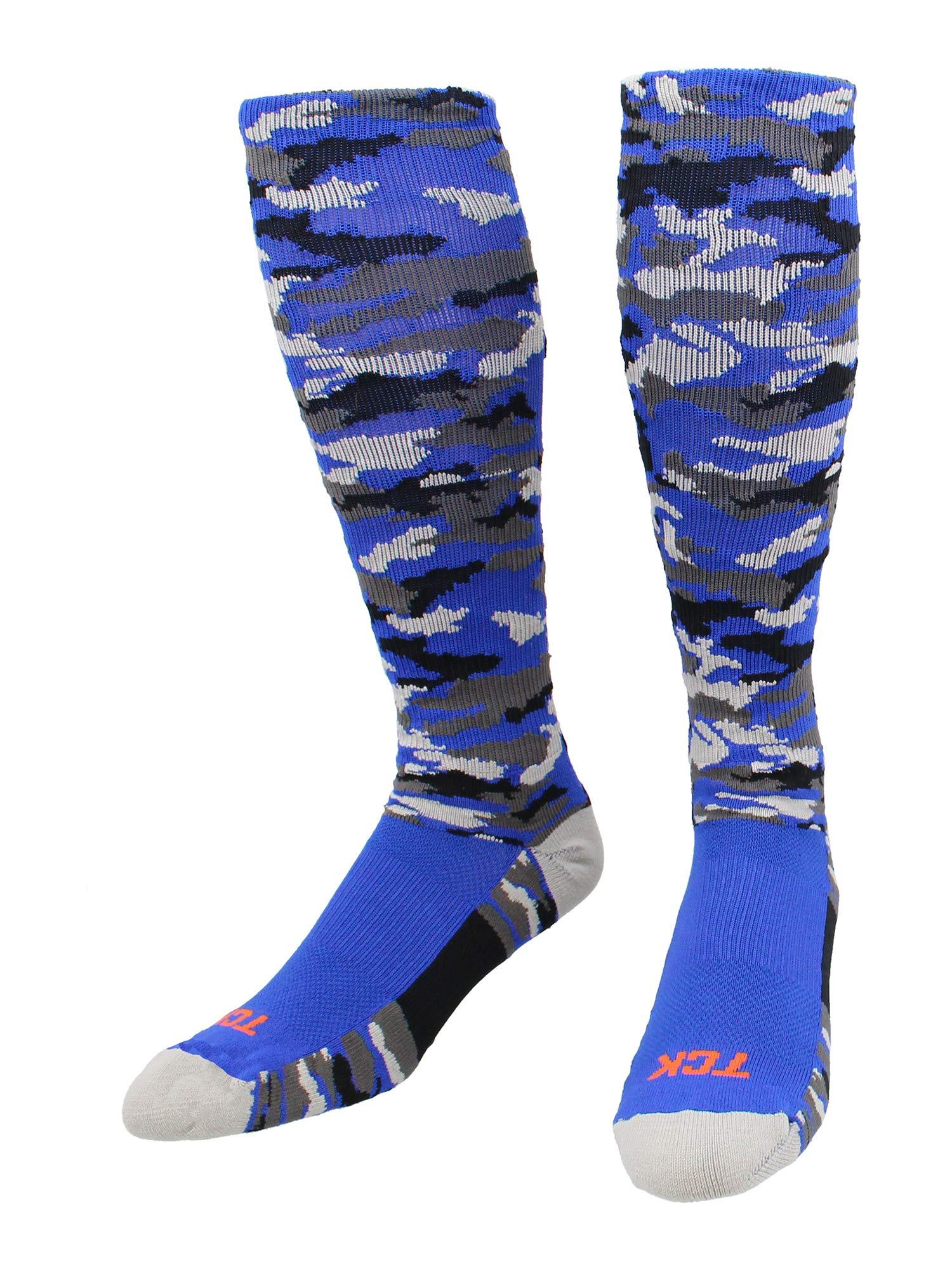 TCK Sports Elite Performance Over The Calf Camo Socks