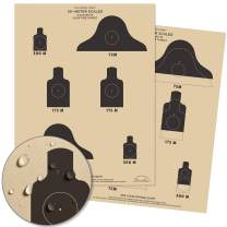 """Rite In The Rain Weatherproof 25m Slow Fire Qualification Targets, M16A1, 17"""" x 22"""", 100 Tan Tactical Targets per Pack (No. 9128)"""